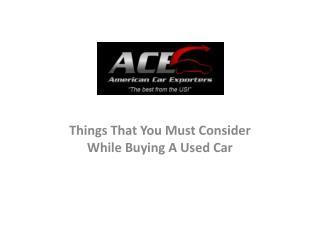 Comprar coches usados de EE.UU.