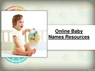 Online Baby Names Resources