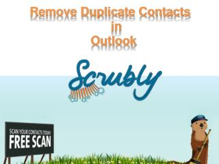 Remove and Prevent duplicate contacts from outlook