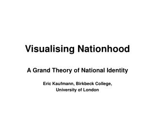 Visualising Nationhood