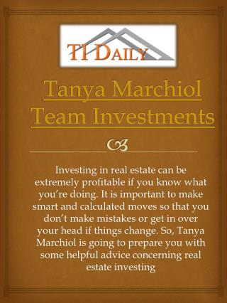 Team Investments Tanya Marchiol