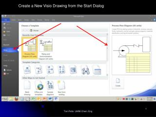 Create a New Visio Drawing from the Start Dialog