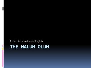The  Walum olum