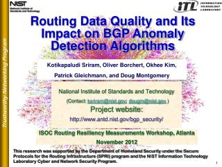Routing Data Quality and Its Impact on BGP Anomaly Detection Algorithms