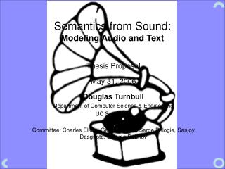 Semantics from Sound: Modeling Audio and Text