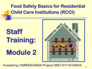 Food Safety Basics for Residential Child Care Institutions (RCCI)