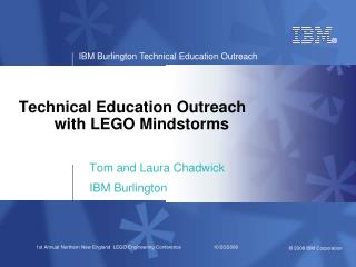 Technical Education Outreach 	with LEGO Mindstorms