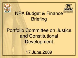 Agenda 2008/09 - Expenditure Outcome 2009/10 - Budget Allocations
