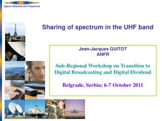 Sharing of spectrum in the UHF band