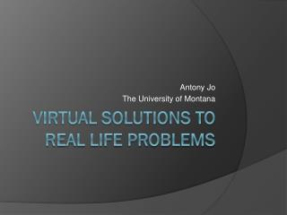 Virtual Solutions to Real Life Problems