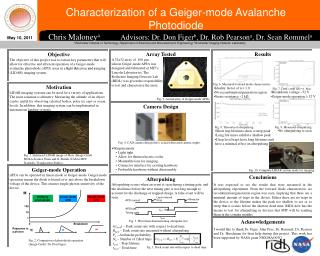 Characterization of a Geiger-mode Avalanche Photodiode