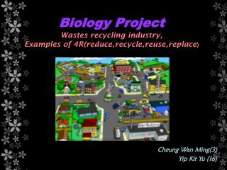 Biology Project Wastes recycling industry, Examples of 4R(reduce,recycle,reuse,replace )