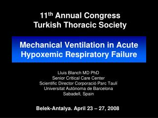 Mechanical Ventilation in Acute Hypoxemic Respiratory Failure