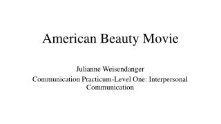American Beauty Movie