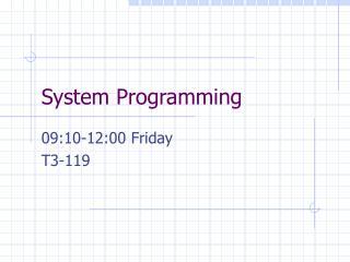 System Programming