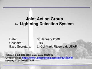 Joint Action Group  for  Lightning Detection System