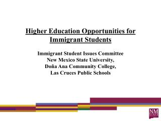 Immigrant Student Issues  Committee