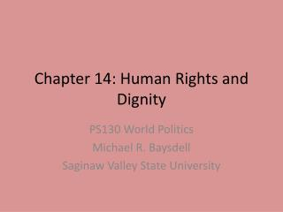 Chapter 14: Human Rights and Dignity