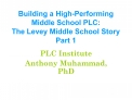 Building a High-Performing Middle School PLC: The Levey Middle School Story Part 1