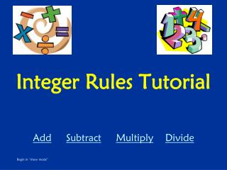 Integer Rules Tutorial