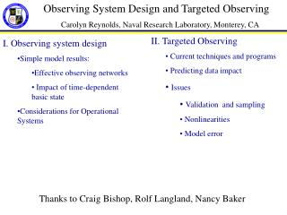 Observing System Design and Targeted Observing