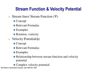 Stream Function & Velocity Potential