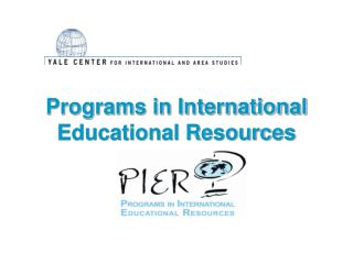 Programs in International Educational Resources