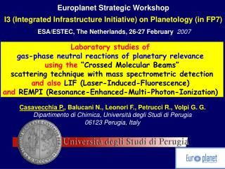 Europlanet Strategic Workshop I3 (Integrated Infrastructure Initiative) on Planetology (in FP7)