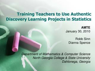 Training Teachers to Use Authentic Discovery Learning Projects in Statistics