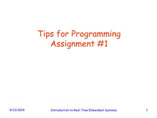 Tips for Programming Assignment #1