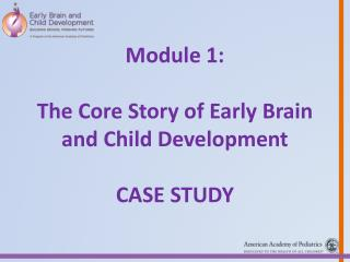 Module  1: The  Core Story of Early Brain and Child Development  Case Study