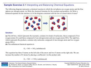 Sample Exercise 2.1  Interpreting and Balancing Chemical Equations