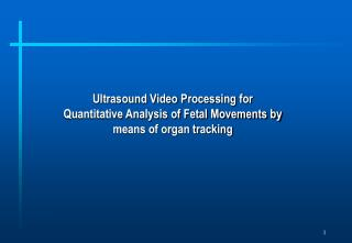 Ultrasound Video Processing for Quantitative Analysis of Fetal Movements by means of organ tracking