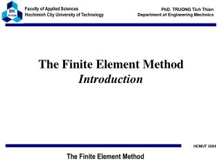 The Finite Element Method Introduction