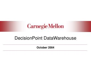 DecisionPoint DataWarehouse