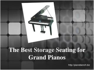 The Best Storage Seating for Grand Pianos