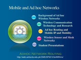 Mobile and Ad hoc Networks
