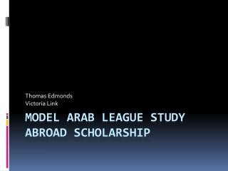 Model  arab  league study abroad scholarship