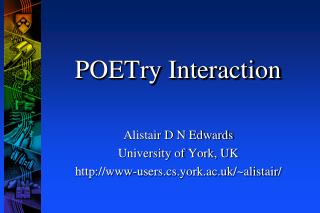 POETry  Interaction