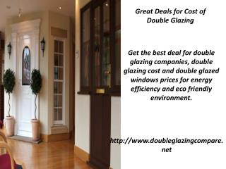 Great Deals for Cost of Double Glazing