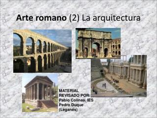 Arte romano  (2) La arquitectura