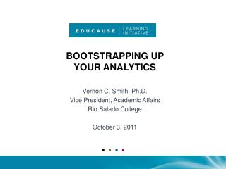 Bootstrapping up  your Analytics