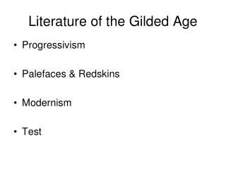 Literature of the Gilded Age