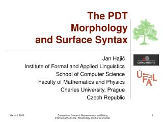 The PDT Morphology  and Surface Syntax