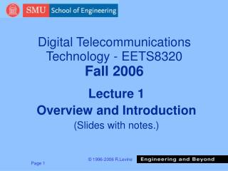 Digital Telecommunications Technology - EETS8320 Fall 2006