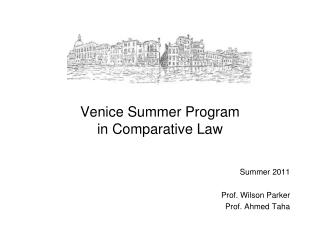 Venice Summer Program in Comparative Law