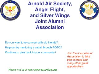 Arnold Air Society, Angel Flight,  and Silver Wings  Joint Alumni Association