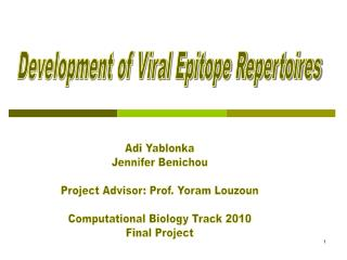 Development of Viral Epitope Repertoires