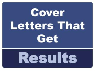 Cover Letters That Get
