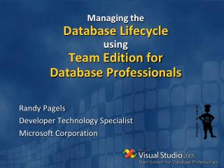 Managing the Database Lifecycle using Team Edition for Database Professionals